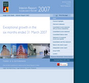 Anglo Irish Bank Interim Report 2007 Website